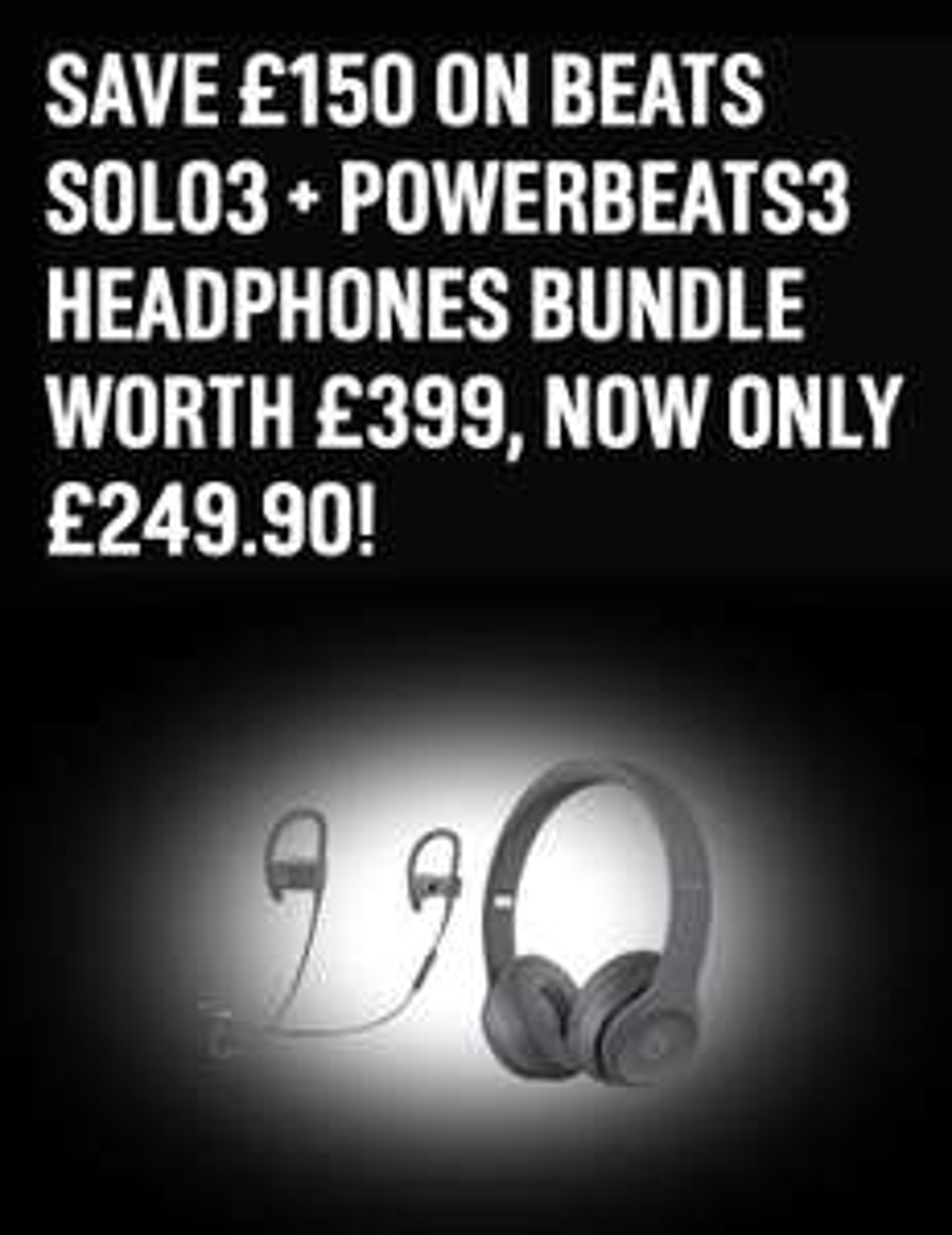 Beats Solo 3 and Beats Powerbeats 3 bundle - £249.95 at Argos