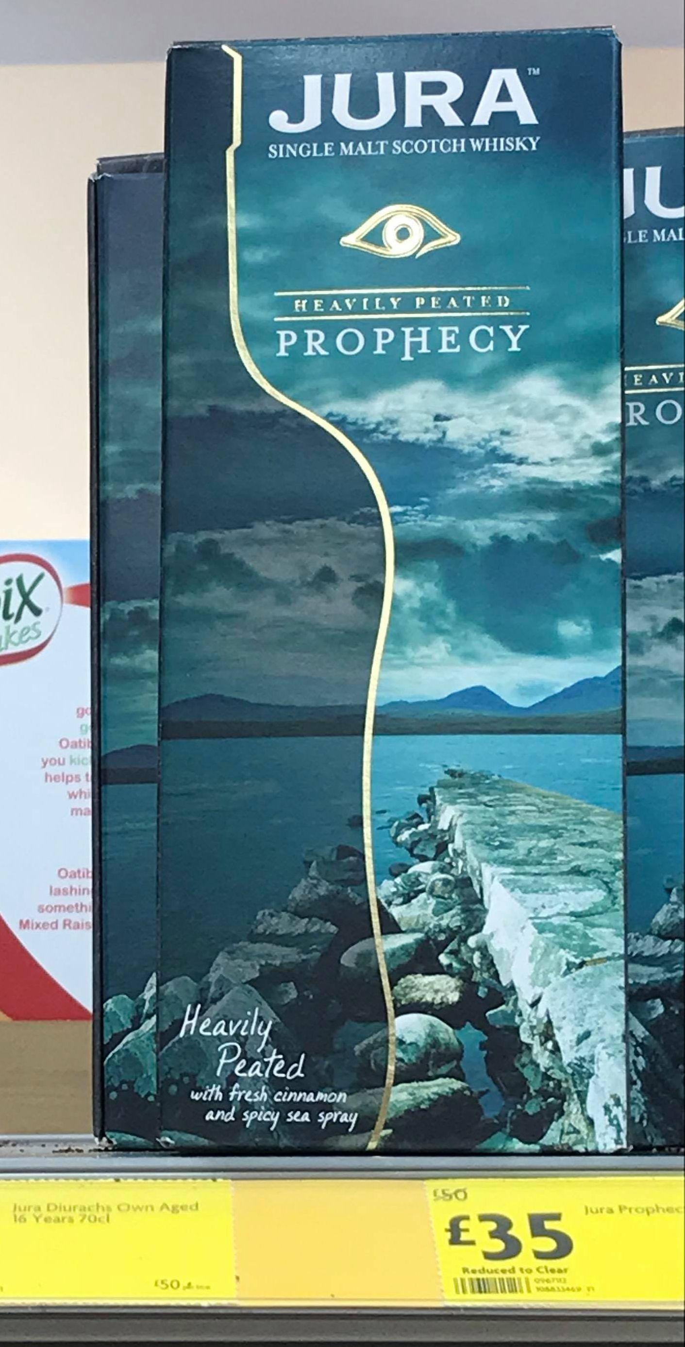 Jura Prophecy 70cl £32 Morrisons