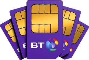 BT Mobile New Customer deal 20gb + Unlimited calls & Texts = £15 per month Total £180 + £90 Reward MasterCard (eqv. £7.50 per month for existing broadband customers)