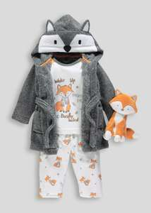 Fox themed 4 Piece Pyjamas Dressing Gown & Toy Set  £14.00 C&C at Matalan (more in post)