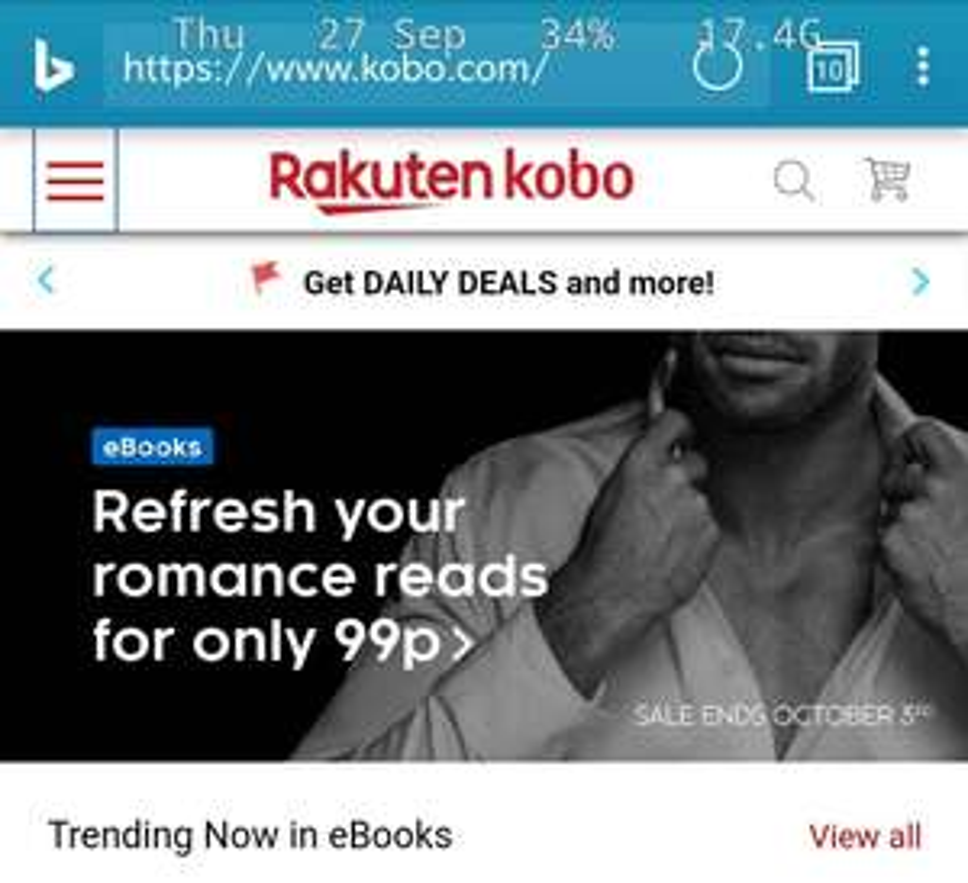 Rakuten Kobo - 1st Audiobook free. (old customer reminder)