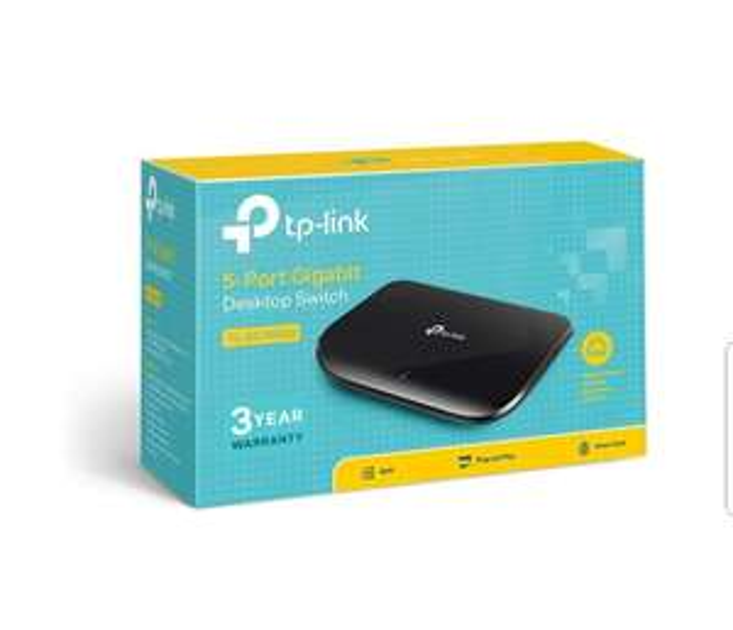 TP-LINK TL-SG1005D 5-Ports Gigabit Ethernet Switch £9.98 (Prime) / £14.47 (non Prime)  Amazon