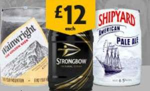 Multiple Beer & Cider Kegs (Shipyard, Wainwright, Strongbow) discounted to £12 @ Morrisons