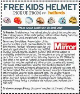*FREE* kids bike helmet with Saturdays Daily Mirror (£1.20) @ Halfords