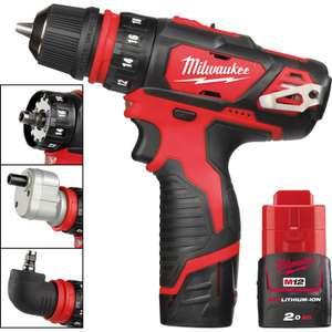 Milwaukee 32Nm 12V Li-Ion 4 in 1 Drill Driver W/Charger/Case & 2 x 2.0Ah Batts For £165.02 By Adding Milwaukee HSS Jobber Drill Bit (1.04 ) W/ Code SEPT18 @ Toolstation (Free Delivery)
