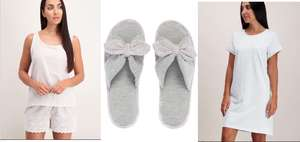 Buy Pyjama Shorty Set + Star Print Nightshirt + Open Toe Slippers Together & Qualify For Free C&C £15.50 @ Tu Clearance