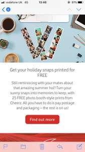 25 free photo booth style prints from Cheerz for Vodafone customers