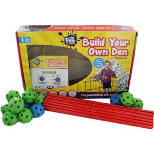 Build Your Own Den - 75 Piece Kit  ONLY £9 Click & Collect @ The Works with Code