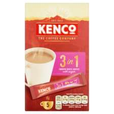 Kenco 3 In 1 Instant Smooth White Coffee 5 Sachet 100G 60p at Tesco