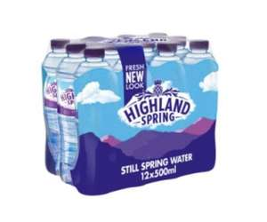 Highland Spring Still Water 12 x 500ml £2 @ Tesco