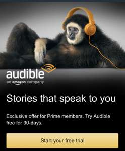 Audible 3 Month Free Trial For Prime Members