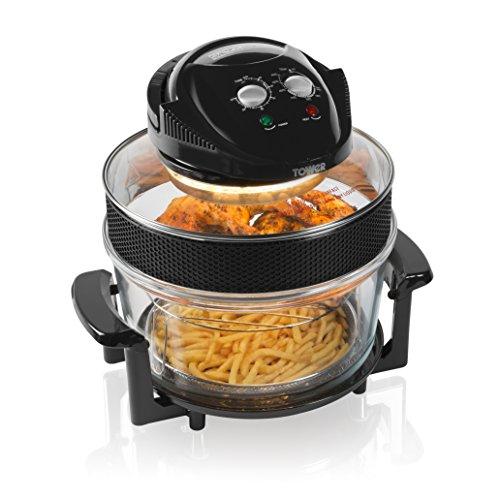 Tower T14001 Halogen Airwave Low Fat Air Fryer, 1300 W, 17 Litre £27.99 @ Amazon