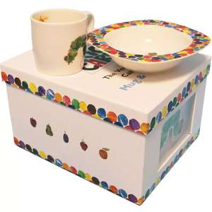 Porcelain Gift Boxed The Very Hungry Caterpillar Mug and Bowl Set now £7.50 C+C w/code @ The Works