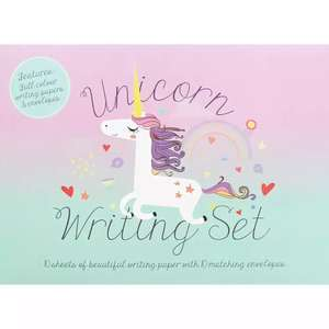 Unicorn Writing Set £1.20 C+C with code @ The Works