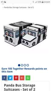 Panda Bus Storage Suitcases - Set of 2 £7 or 2 for £10 mix & match on storage boxes C+C @ The Works