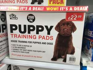 200 Puppy Training pads £19.99 @ Poundstretchers