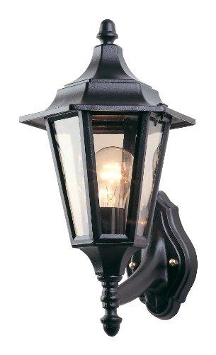 Firstlight E27 IP43 1 x 60 Watt 6-Panel Lantern Uplight, Black -  £6.23 prime / £11.12 non prime @ Amazon
