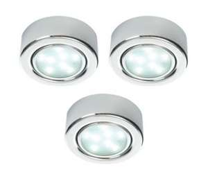 3 X LED Under-Cupboard Round Lights (12 LED's Per Unit) W/ Transformer & Fixings Included £20 @ Wickes Clearance (Instore Only)