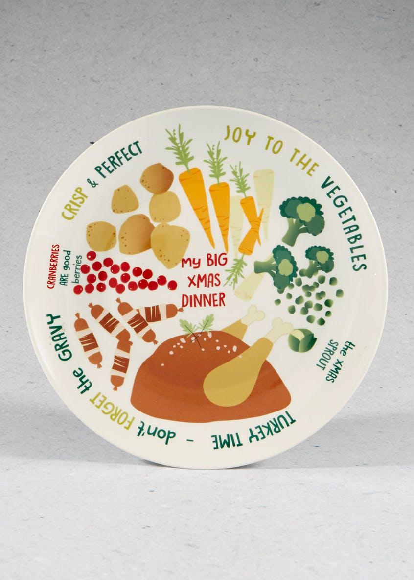 Large 30cm Ceramic Christmas Dinner Plates £4 C&C @ Matalan