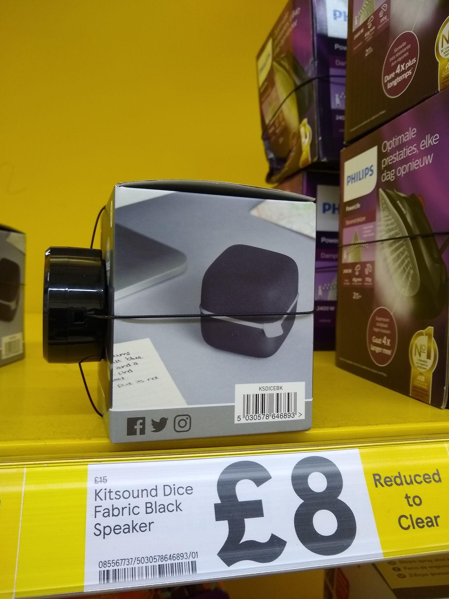 Kitsound dice fabric Bluetooth speaker - £8 instore @ Tesco (Pontardawe)