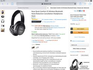 Bose qc35 ii at Amazon Germany for £258