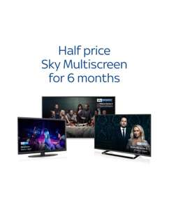 Sky Multiscreen £6 pm for 6 months (account specific)