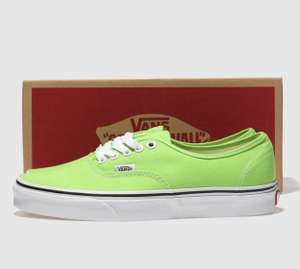 Vans lime green Authentic trainers uk7-11 £21.99 @ schuh (pink £24.99) (write a review discount 15% code)