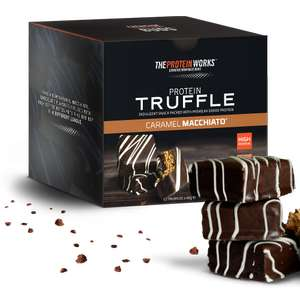 Protein Truffles/Nutties box of 12 £10.32 w/code AMP57 / Protein Brownies box of 12 £11.28 w/code AMP53 @ The Protein Works +£2.99 delivery