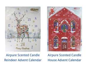 2 Airpure Scented Candle Advent Calendars £12 with code at The Works - Free C&C