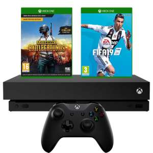 Xbox One X 1TB with PUBG And FIFA 19 - £369 @ ao.com (for O2 customers)