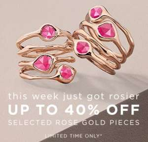 40% off selected Rose Gold jewellery by Monica Vinader