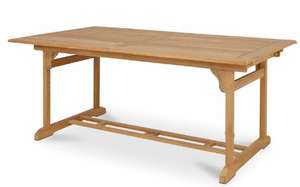 Roscana Solid Teak 6 seater Dining table (Extends To 8 Seater) £80 @ B&Q Clearance (Free C&C)