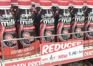 Maxi promax milk extreme chocolate 2 for £1.50 @ Fultons foods