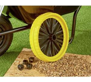 *Own An Old Barrow Ruined By Tyre Punctures?* Get The British Made Titan Universal Puncture Free Wheelbarrow Wheel 40% Off At Argos Clearance £14.99 (Free C&C)