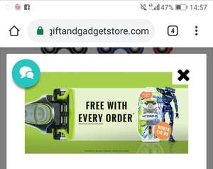 Free razor with any order (p+p £1.99, free with orders of £20+) @ The gift and gadget store