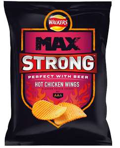 Walkers Max Strong, Hot Chicken Wings & Jalapeño And Cheese Only £1 @ a Mccolls near you.