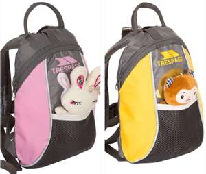 Kids Trespass 5L backpack with soft toy £7.99 delivered from Trespass outlet Ebay