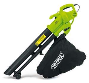 Draper 3000W 3 in 1 Garden Vacuum, Leaf Blower and Shredder Mulcher with Large 35 Litre Collection Bag and Extra Long 15m Cable £29.74 @ Robert Dyas C&C