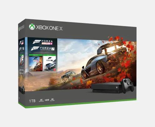 Xbox One X 1TB Console - Forza Horizon Bundle + FIFA 19 + Halo Wars 2 (or Halo 5 Guardians) - Microsoft Store for £399.99