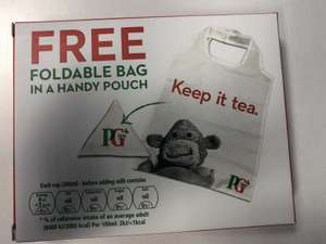 Free PG tips and Tote bag with TimeOut magazine outside Holborn Station
