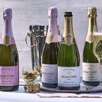 1/3rd off cases of Delacourt champagne inc rose, brut and medium dry now £120.60 a case / £20.10 a bottle with free delivery @ Marks and Spencers
