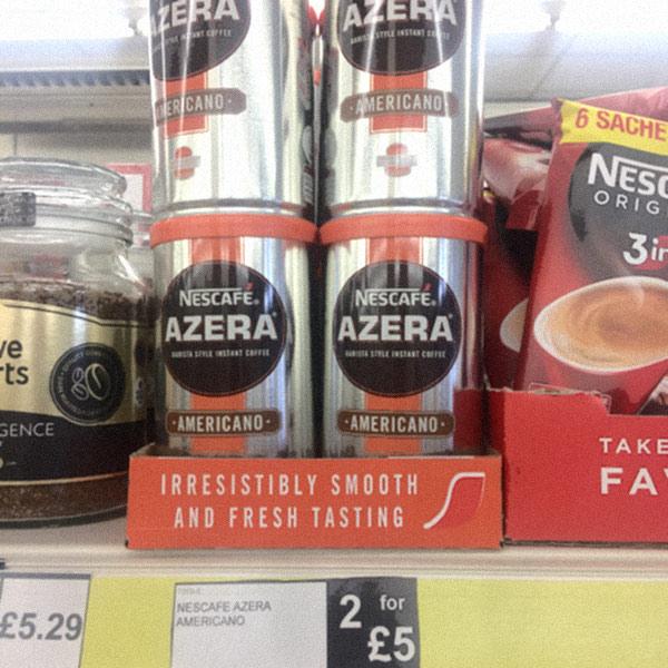 Nescafe Azera Americano instant coffee 2 for £5 / £2.99 each @ Fultons