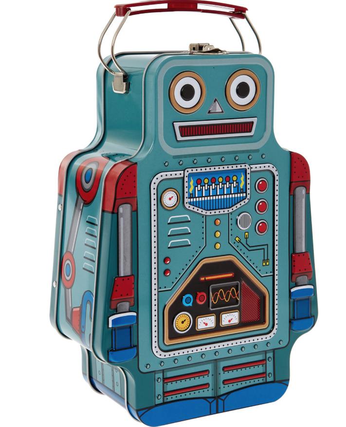 Blue Lunch Box Robot 23x8cm £9.99 At TK Maxx - £1.99 c&c