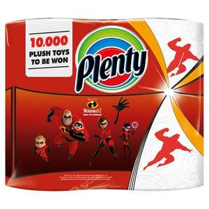 Plenty Decorated Kitchen Roll 200 Sheets 2 per pack for £2 @ Morrisons