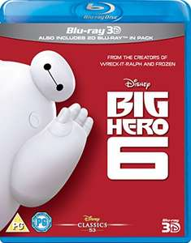 Disney's Big Hero 6 3D + 2D Blu Ray £4.99 @ Amazon (£2.99 delivery non prime)