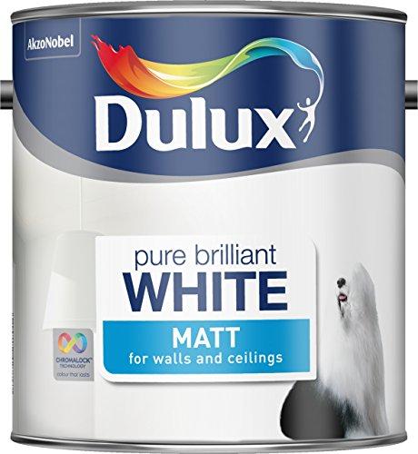 Amazon prime. Dulux Matt Paint, 2.5 L - Pure Brilliant White. £9.75 Amazon