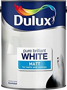 Amazon. Dulux Matt Paint, 5 L - Pure Brilliant White £13.30 (Prime) / £17.79 (non Prime) at Amazon