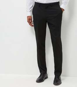 Black Slim Fit Suit Trousers for £7 @ NewLook Delivery £3.99 C&C £2.99
