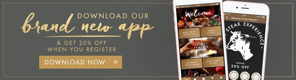 20% off at Miller & Carter Full Bill when you register via app