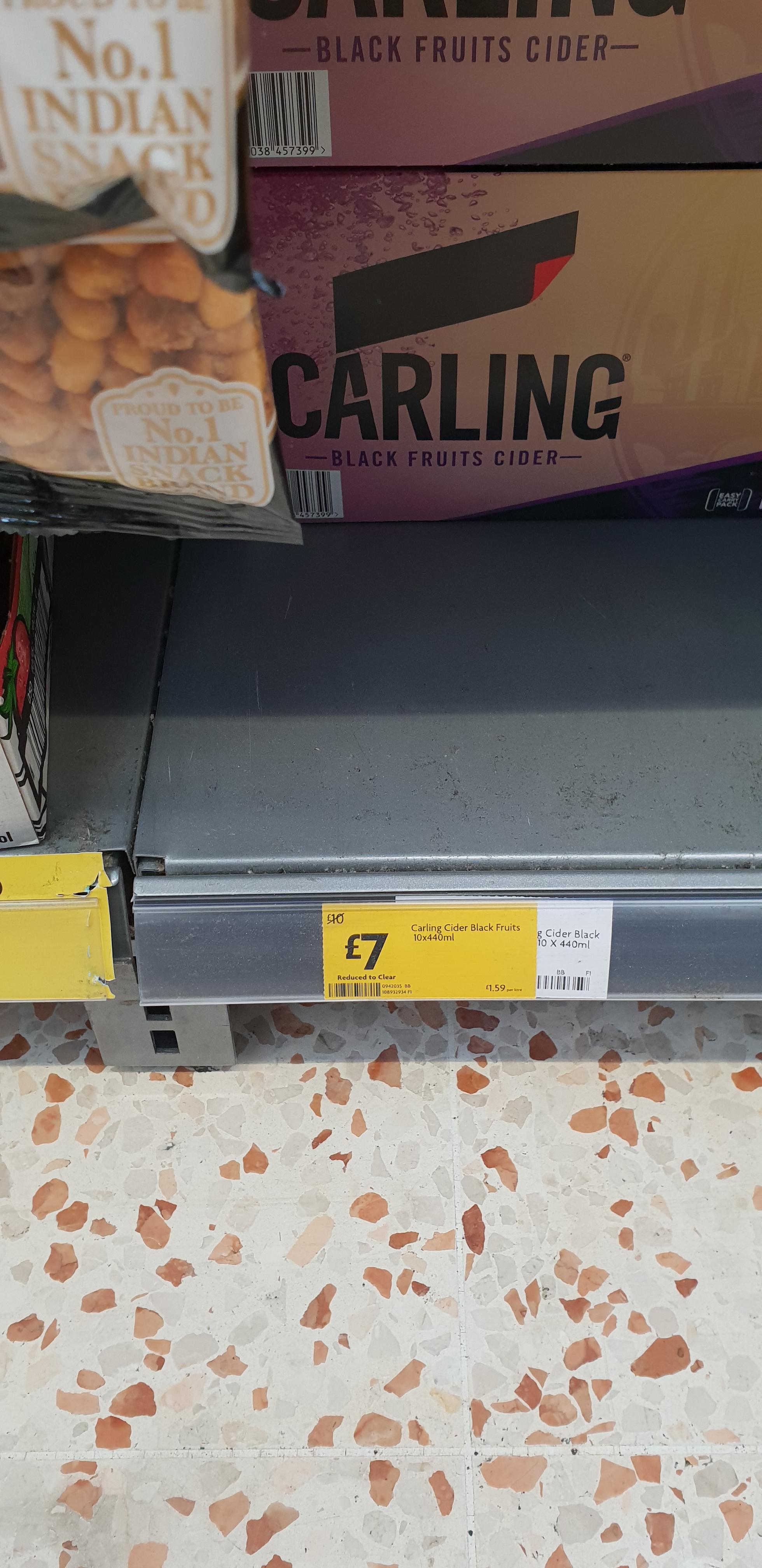 Carling Dark Fruits Cider £7.00 for 10 cans at Morrisons